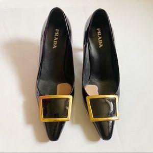 Prada black shoes sz 36.5